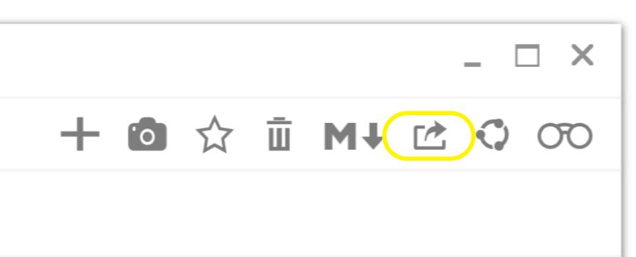 glimpses pdf export button