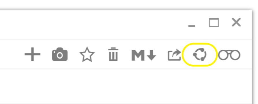 glimpses publish entry button